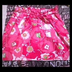 Lilly Pulitzer A-line floral print Cotton skirt